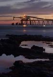 Mining - Blue metal gravel loader at dawn Bass Point Royalty Free Stock Image