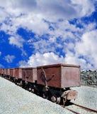 Mining bucket train Royalty Free Stock Photography