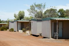 Mining Camp Accommodation. In Australia Stock Photography