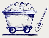 Mining cart Stock Image