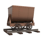 Mining Cart Isolated. On white background. 3D render Stock Photo