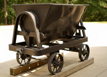Mining cart for ore transport Royalty Free Stock Images