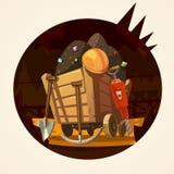 Mining cartoon illustration Stock Photo