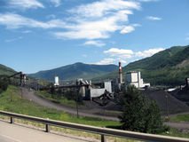 Mining coal in colorado Royalty Free Stock Images