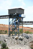 Mining conveyors Royalty Free Stock Images