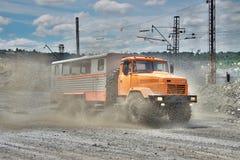 Mining crew bus Royalty Free Stock Photo