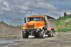 Mining crew bus Stock Images