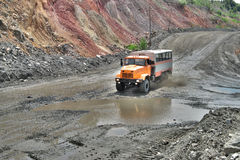 Mining crew bus Stock Photography
