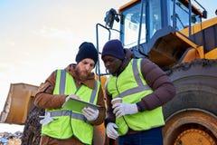 Mining Crew on Site stock photography