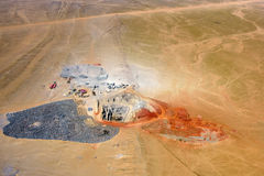 Mining development, quarry, Namibia Stock Photos