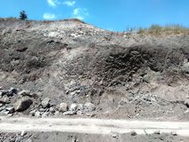 Mining and Digging Site. Hillock , rocks and stones stock photography