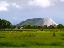 Mining dump. A potash mining dump near Steinhude, germany Royalty Free Stock Photos