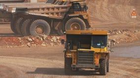 Mining dump truck stock footage