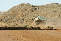 Mining Dump Truck. In Gold Production Stock Image