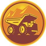 Mining Dump Truck Retro Stock Image