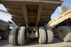 Mining dump trucks Royalty Free Stock Photos