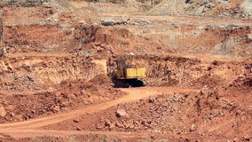 Mining dump trucks and excavators