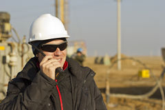 Mining engineer. Directs the work in mining Royalty Free Stock Photography