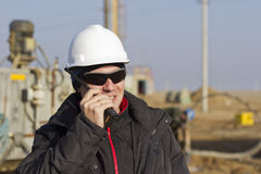 Mining engineer. Directs the work in mining Royalty Free Stock Photos