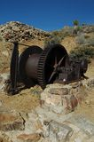 Mining Equipmemt. Old Mining Equipment at the Lost Horse Mine, Joshua Tree National Park Royalty Free Stock Photography