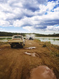 Mining Evaporation Pond Stock Images