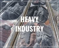 Mining excavator on the bottom surface mine. Brown coal deposits Royalty Free Stock Photography