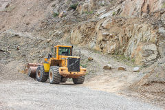 Mining excavator in stone pit Stock Photography