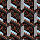 Mining farm seamless pattern. Mining rig GPU ornament. Crypto cu. Rrency at home. Extraction of virtual money background. Vector illustration Royalty Free Stock Photography