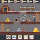 Mining Game Interface Royalty Free Stock Photo