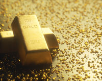 Mining Gold Nuggets Stock Photography
