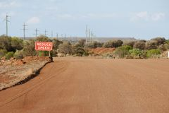 Mining Haul Road. In the Outback Stock Photos