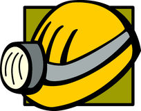 mining helmet with lamp vector illustration Stock Photography