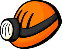 mining helmet with light vector illustration Royalty Free Stock Images