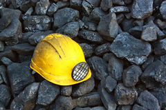 Mining helmet Royalty Free Stock Images
