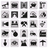 Mining Icon collection for web, app. Vector illustration on button Stock Photo