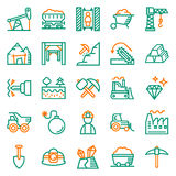 Mining Icon collection for web, app. Vector illustration on white background Royalty Free Stock Photo