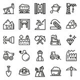 Mining Icon collection for web, app. Vector illustration on white background Royalty Free Illustration