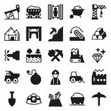Mining Icon collection for web, app. Vector illustration on white background Stock Images