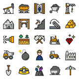 Mining Icon collection for web, app. Vector illustration on white background Stock Photography