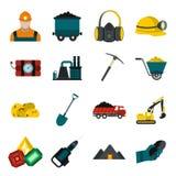 Mining icons flat set Stock Image