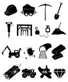 Mining icons set Royalty Free Stock Photography