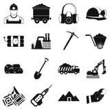 Mining icons simple set Royalty Free Stock Image