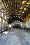 Mining-Industrial factory. Abandoned the mining factory Tharsis, Spain stock photo