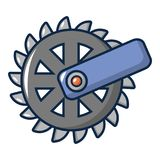 Mining Industry cogwheel icon, cartoon style. Mining Industry cogwheel icon. Cartoon illustration of mining Industry cogwheel vector icon for web design vector illustration