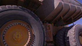 Mining Industry. Dump trucks and other vehicles in a Copper mine