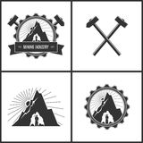 Mining Industry, Label or Badge Stock Photography