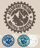 Mining industry retro stamp Stock Images