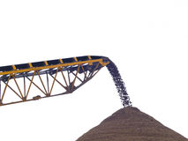 Mining. Industry, sorting sand at gravel pit Royalty Free Stock Photography