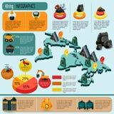 Mining Infographics Set Royalty Free Stock Image