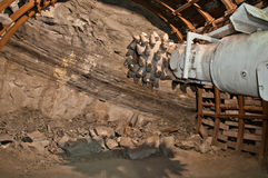 Mining machine in mine Royalty Free Stock Images